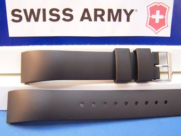 Swiss Army watchband Alliance Rectangle Black Rubber 20mm