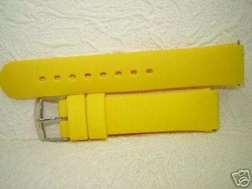 Sport band yellow Resin 18mm w/ steel buckle and pins