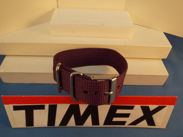 Timex watchband 1 Pc Loop Thru Purple 20mm   Steel Hardware