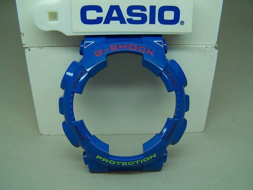 Casio Watch Parts GA-110 HC-2 Bezel / Shell Shiny blue. Red/Green G-Shock letter