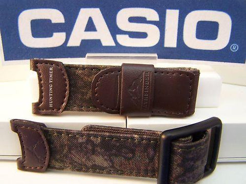 Casio watchband PAS-410 B. Brown Camo Pathfinder Hunting Watchband