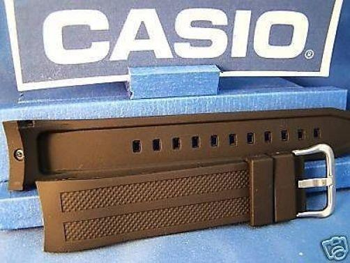 Casio watchband AMW-706 and AMW-704. Black Resin w/Pin