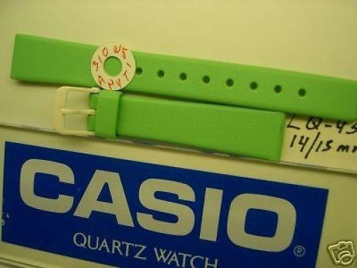 Casio watchband LQ-43 14/15mm bright sea  green