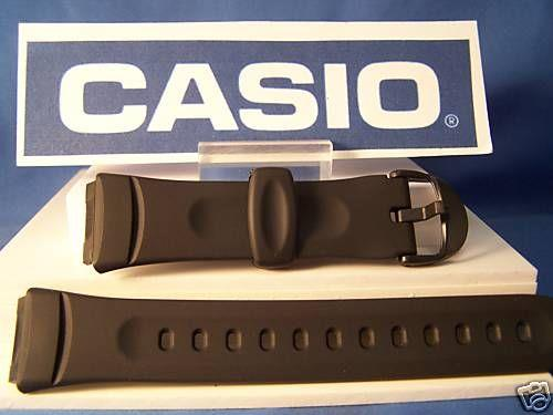 Casio watchband W-57 black Resin mens