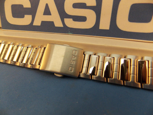 Casio watchband AMW-700 D Bracelet. Fishing Gear. All Steel Silver Color