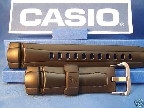 Casio watchband G-7300 and G-7301 Black Resin