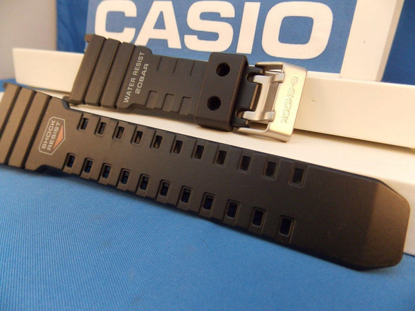 Casio Watchband G-5500 black Resin. G-Shock 20 Bar Water Resist Strap