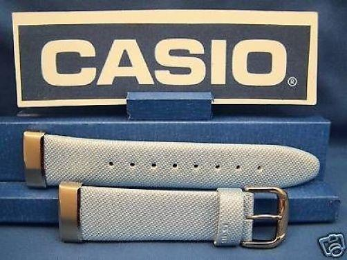Casio watchband MSG-133 L-2 Baby-G  Lite blue Leather Steel End Caps