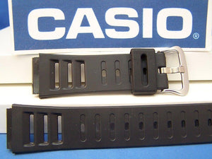 Casio watchband DW-220, DW-250. Black Resin Watchband. Depth Guage Watch