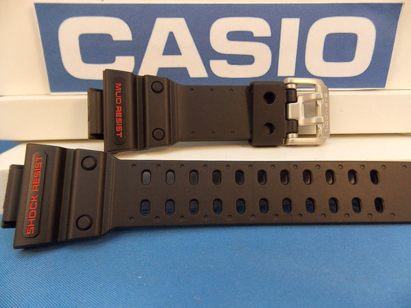 Casio watchband GXW-56, GX-56 Black G-Shock  Red Letters Mud Shock Resist