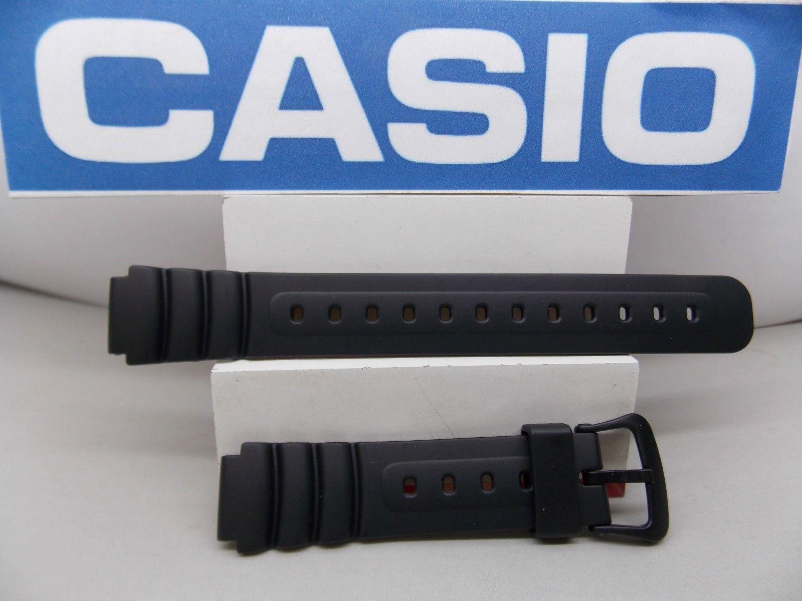 Casio watchband LW-22 Lady 14mm black Resin sport watchband with spring bars
