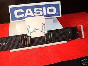 Casio watchband DW-5600 B, G-353 B.1  Piece Black Fabric  For 16mm Watches