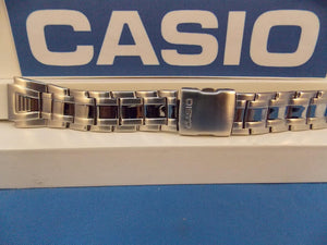 Casio watchband AQF-102 WD-1 Bracelet All Steel Silver Tone w/Push Button buckle