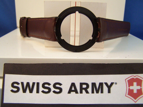 Swiss Army watchband Seaplane Chronograph Swiss Air Force. Brown Leather 21mm