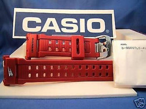 Casio watchband G-9000 TLC Mudman Red. Steel Double Nib buckle