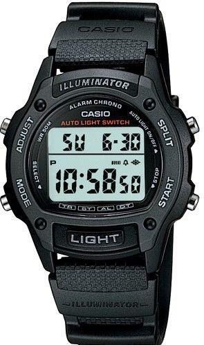 Casio watchband W-93 Illuminator Textured Rub Sport Band Fits Most 18mm Watches