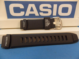 Casio watchband PRW-2000, PRG-200 Black Rubber Pro Trek Triple Sensor