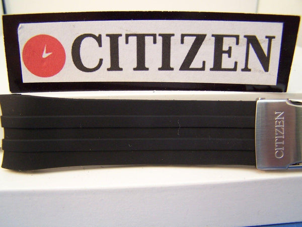 Citizen watchband CB0020 H144-S067383.World Perpetual ECO AT.Black Rub w/Deploy