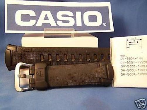 Casio watchband GW-500, GW-530, GW-M500, GW-M530. G-Shock black Rubber