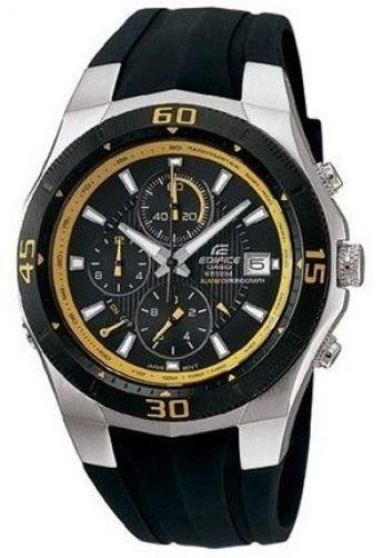 Casio watchband EF-514 Edifice  Black Resin w/pins