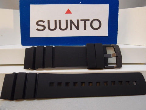 Suunto watchband ElementumAqua Black: Resin /buckle w/Spring Bars
