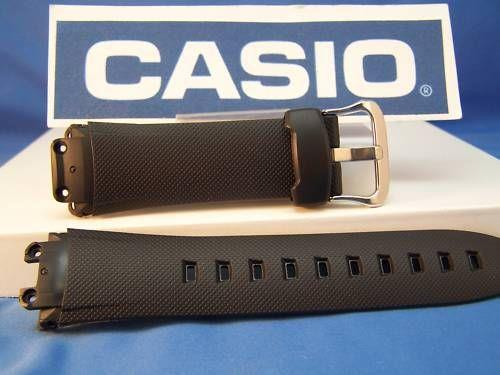 Casio watchband G-3100, G-3110 mens black Resin