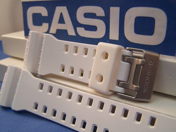 Casio watchband GA-100 A-7,G-8900,GR-8900,GW-8900.Shiny White Rub G-Shock