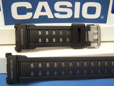 Casio watchband GW-9000 Mudman Mud Resist Black Resin G-Shock Watchband -
