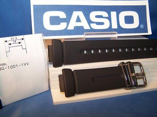Casio watchband BG-1001 Baby G black Resin ladies