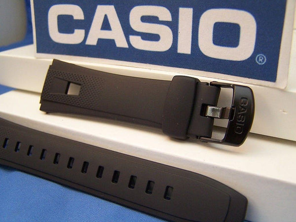 Casio watchband AQ-190 W-1. Black Resin Casio  Watchband