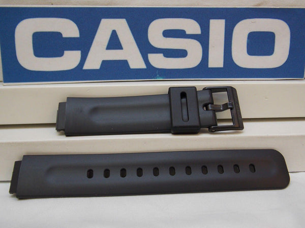 Casio watchband MW-33. Black Resin Watchband/ Factory Original