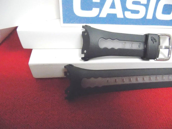 Casio watchband BG-163 Black and Clear Baby G Original  Resin