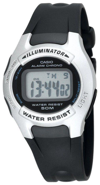 Casio watchband W-42, W-43 Illuminator Black Resin /Watchband