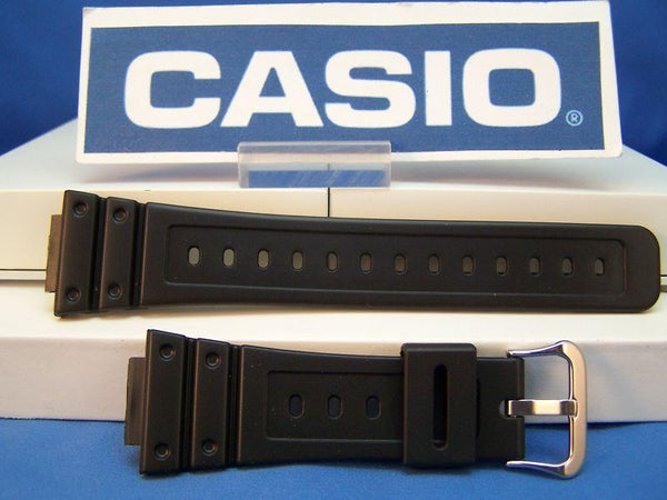 Casio watchband DW-5600E G-shock Original 16mm Black Resin  Watchband