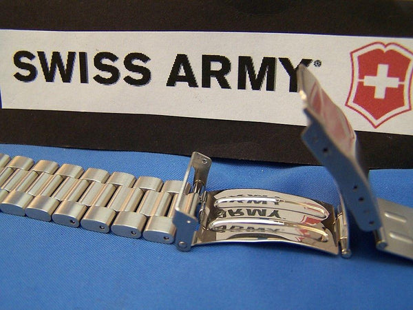 Swiss Army watchband Summit XLT Ratchet. All Steel Bracelet w/ 9mm Attach Link