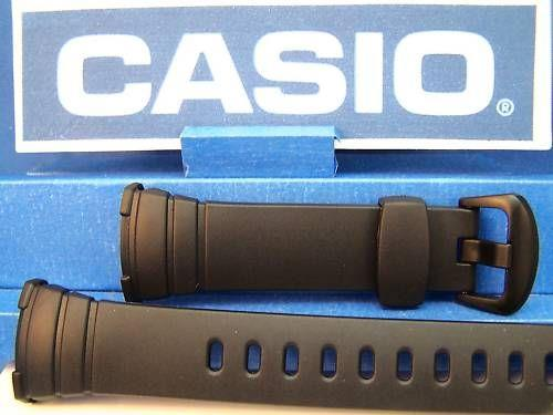 Casio watchband WVA-107 or WVA-107H Original Waveceptor Black Resin