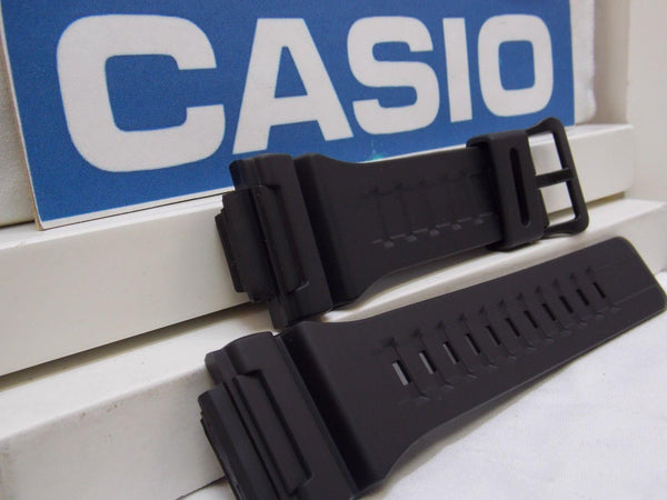 Casio watchband AQ-S810 & W-735 Black Rubber  for Tough Solar Illuminator