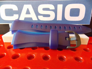 Casio watchband W-733 H-1C Two Tone blue Resin Illuminator Watchband