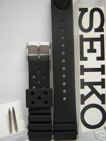 Seiko WatchBand.Genuine Seiko Divers Band 22mm w/Original Heavy Duty Spring Bar