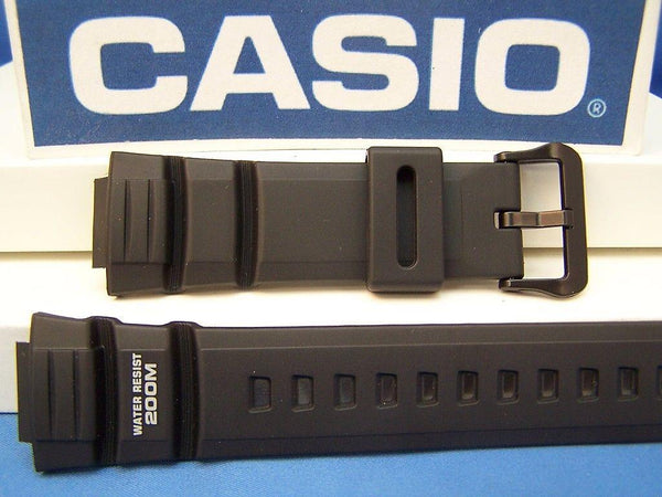 Casio watchband WV-200 A, AE-2000 W. Waveceptor Illuminator Black Rubber