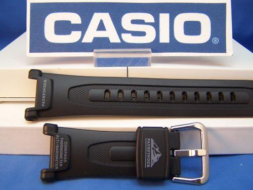 Casio watchband PAG-40.Pathfinder Black Resin Watchband/. And fits PRG-40