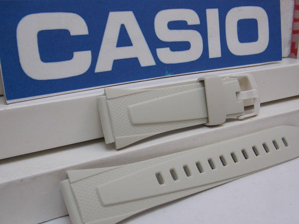 Casio watchband W-734 -7 Off White Lap Memory 60 Watchband  678 ET1 18