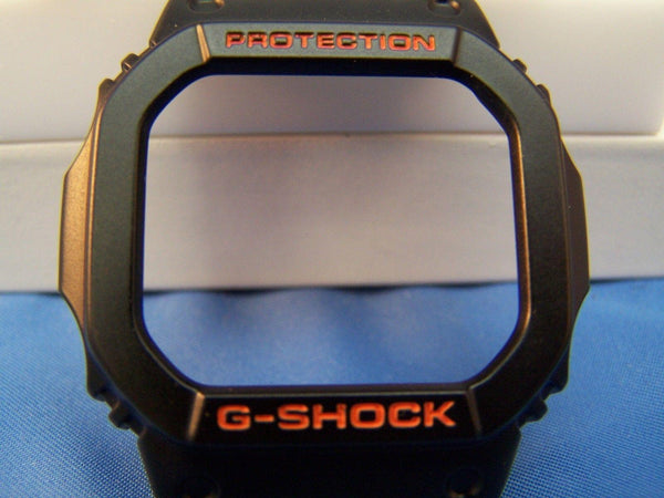 Casio Watch Parts GW-M5600 R GW-M5610 R Bezel.Orange Letter Black G-Shock Bezel
