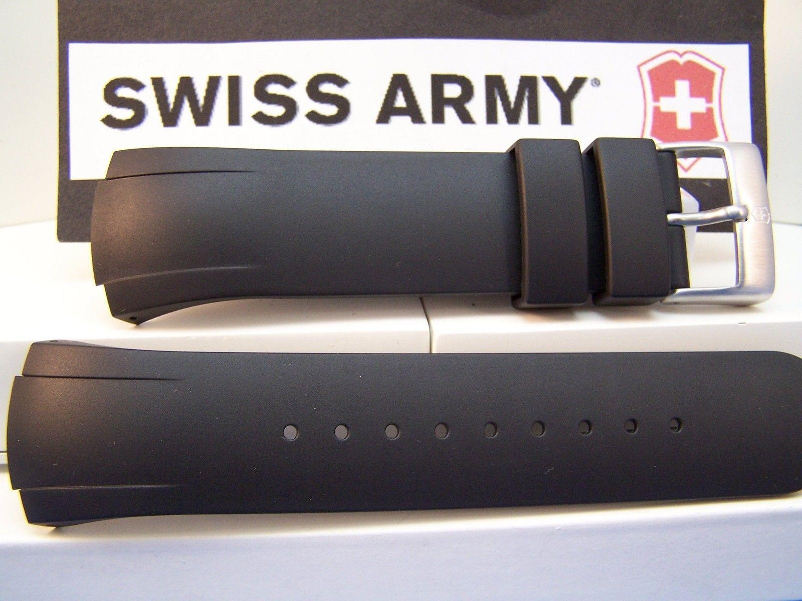 Swiss Army watchband ST4000, ST1500, ST2500, Black Resin . Watchband