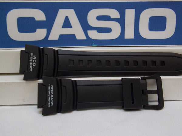 Casio watchband SGW-500. Black Resin  for Compass Thermometer Twin Sensor. ASIN: B00DVRFVKS