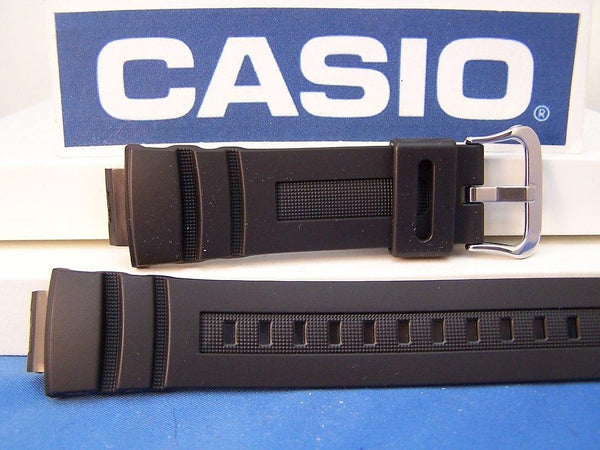 Casio watchband AWG-100, AWG-101, AW-591, G-7700, SKAW-590.Blk Rub G-Shock Band