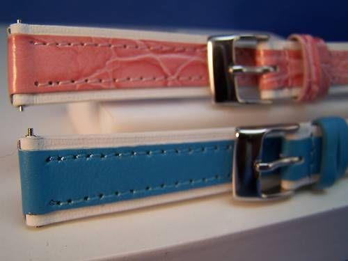 Two ladies 14mm Watchband Leather 2-Color Fingernail Pins