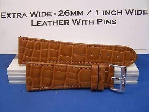 26mm Wide Tan Leather .Genuine Leather.Good Quality Watchband