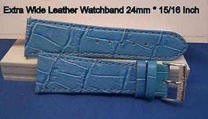 24mm Wide Lt blue Leathr .Genuine Leather.Good Quality Watchband