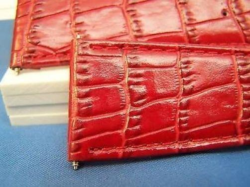 26mm Wide Red Leather .Genuine Leather.Good Quality Watchband
